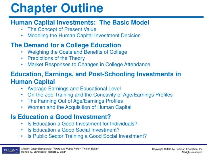 investment in human capital through education toward development The human capital project is expected to help create the political space for national leaders to prioritize transformational human capital investments the objective is rapid progress towards a world in which all children arrive in school well-nourished and ready to learn, can expect to attain real learning in the classroom, and are able to.