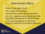 deterministic effects1