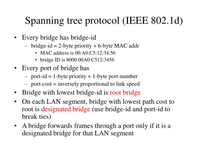 Spanning tree protocol (IEEE 802.1d)