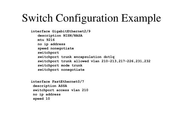 interface GigabitEthernet2/9