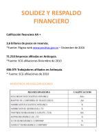 solidez y respaldo financiero