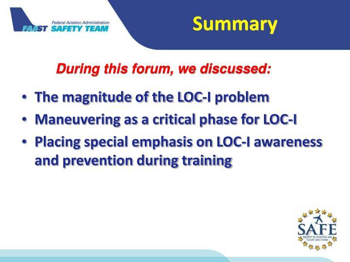 The magnitude of the LOC-I problem