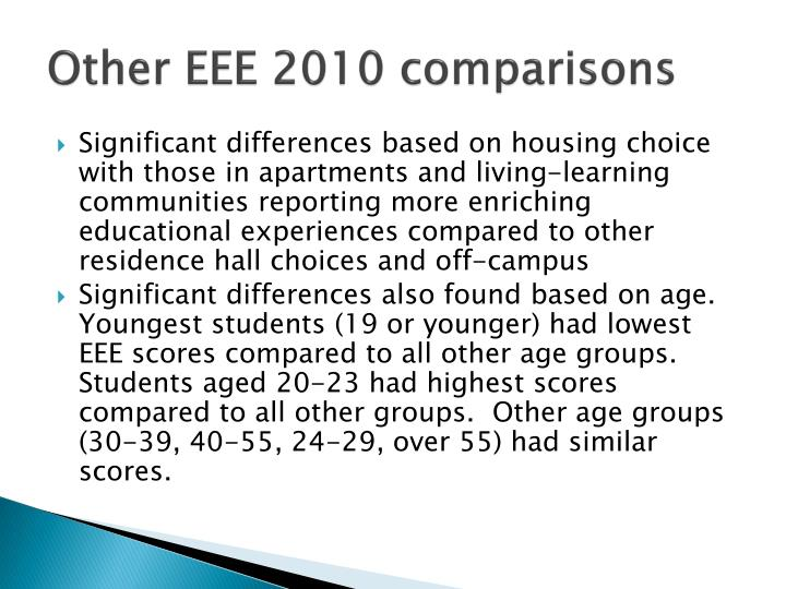 Other EEE 2010 comparisons