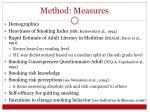 method measures