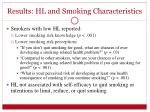 results hl and smoking characteristics1