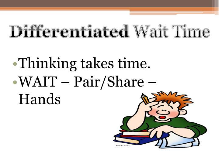 Thinking takes time.