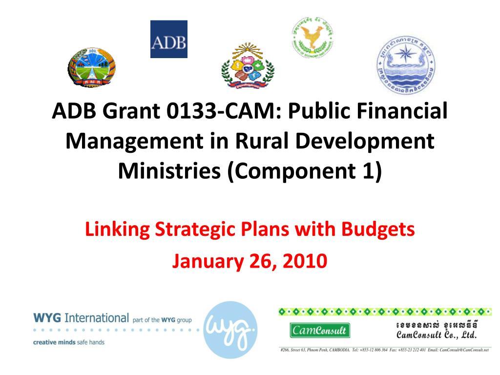 PPT - ADB Grant 0133-CAM: Public Financial Management in Rural