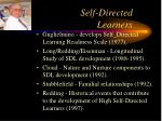 self directed learners