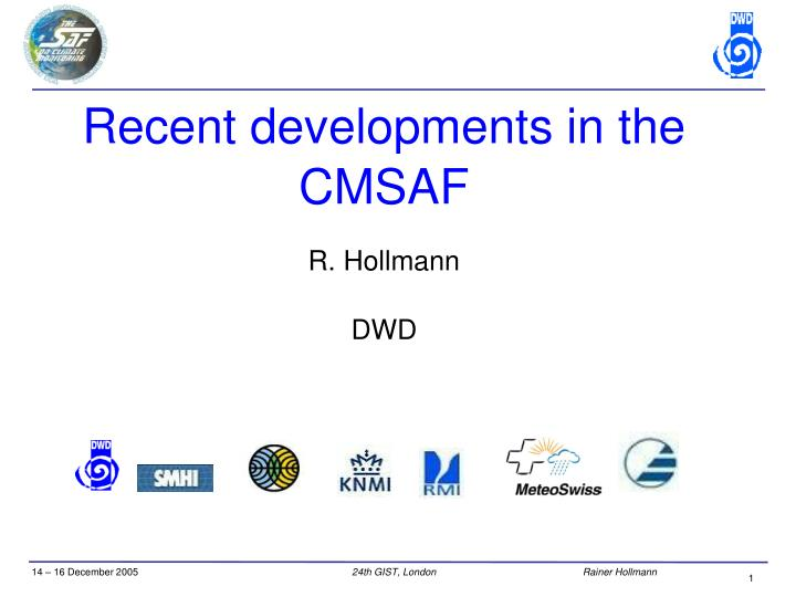 recent developments in the cmsaf n.