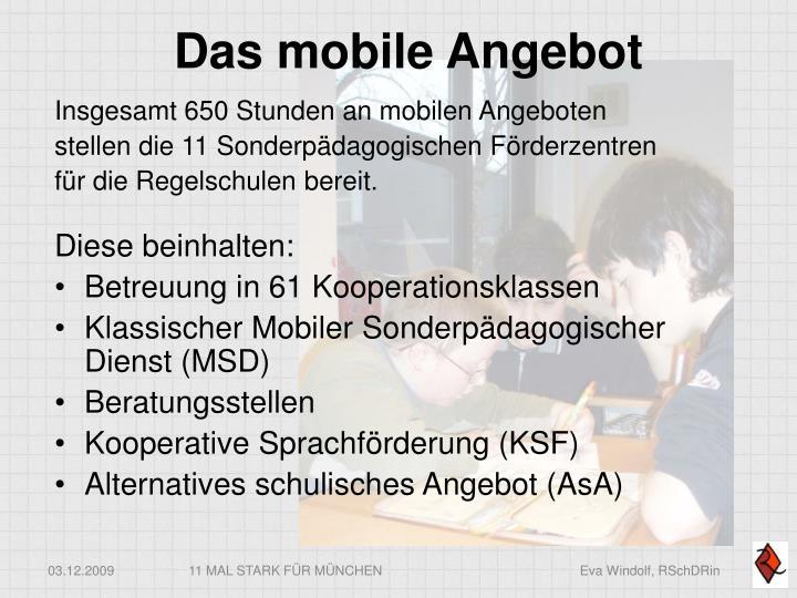 Das mobile Angebot