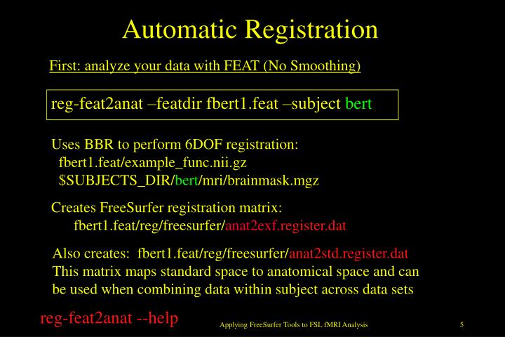 Automatic Registration