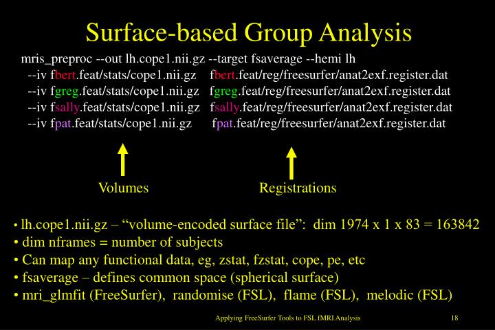 Surface-based Group Analysis