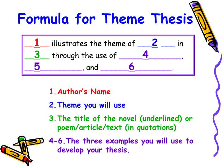 Formula for Theme Thesis