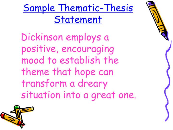 Sample Thematic-Thesis Statement
