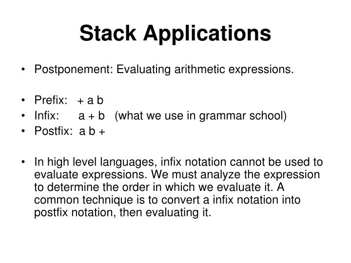 Stack Applications