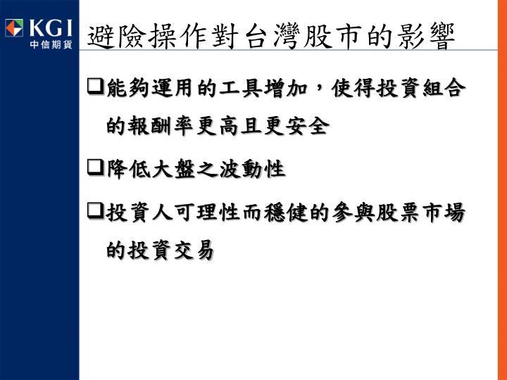 避險操作對台灣股市的影響