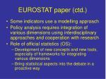 eurostat paper ctd