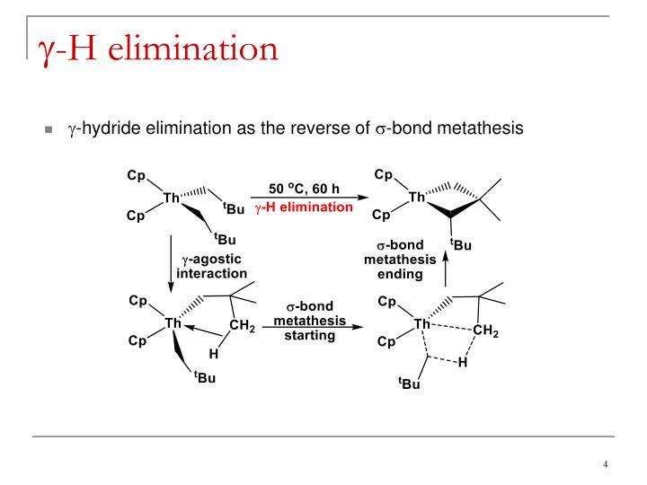 Sigma bond metathesis