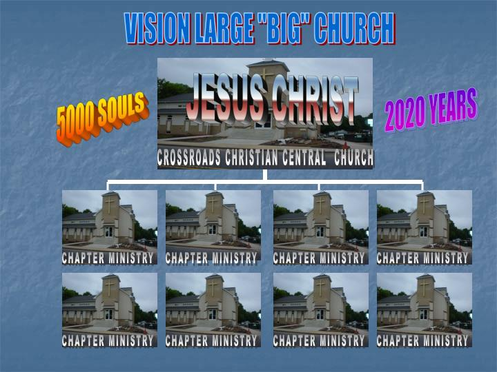 "VISION LARGE ""BIG"" CHURCH"