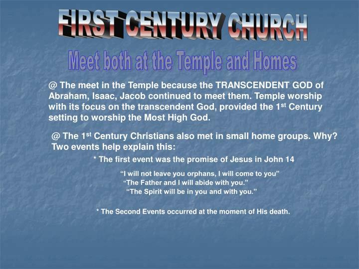 FIRST CENTURY CHURCH