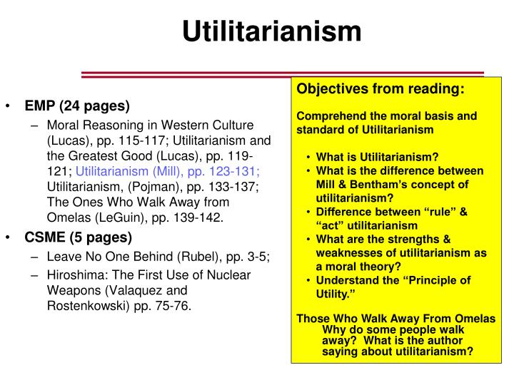 essay about mill utilitarinism