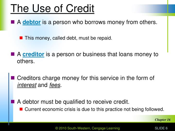 The Use of Credit