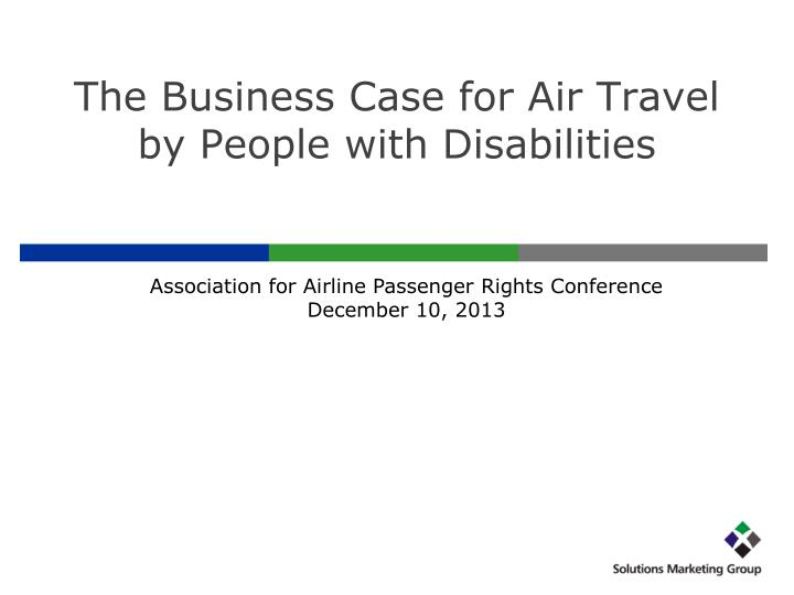the business case for air travel by people with disabilities