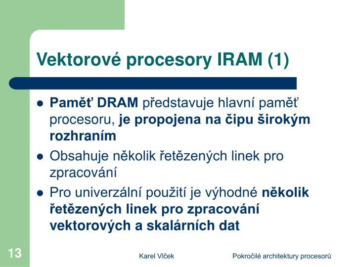 Vektorové procesory IRAM (1)