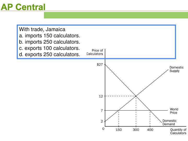 With trade, Jamaica