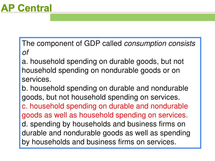 The component of GDP called