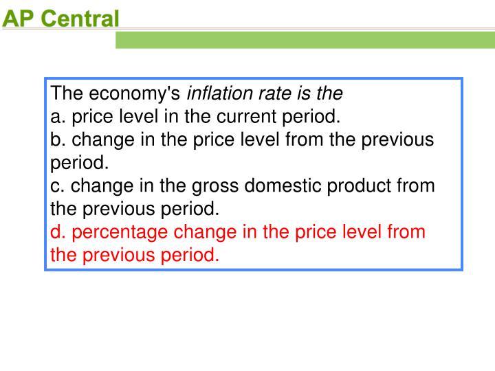 The economy's