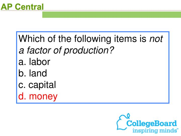Which of the following items is