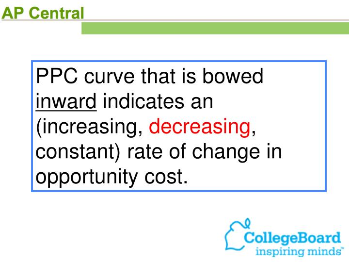 PPC curve that is bowed