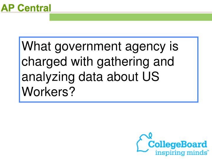 What government agency is charged with gathering and analyzing data about US Workers?