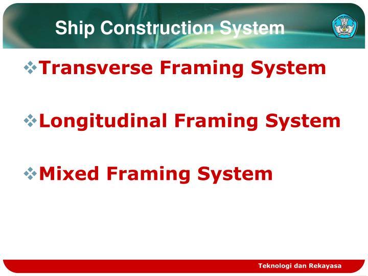 Ship Construction System