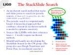 the stackslide search