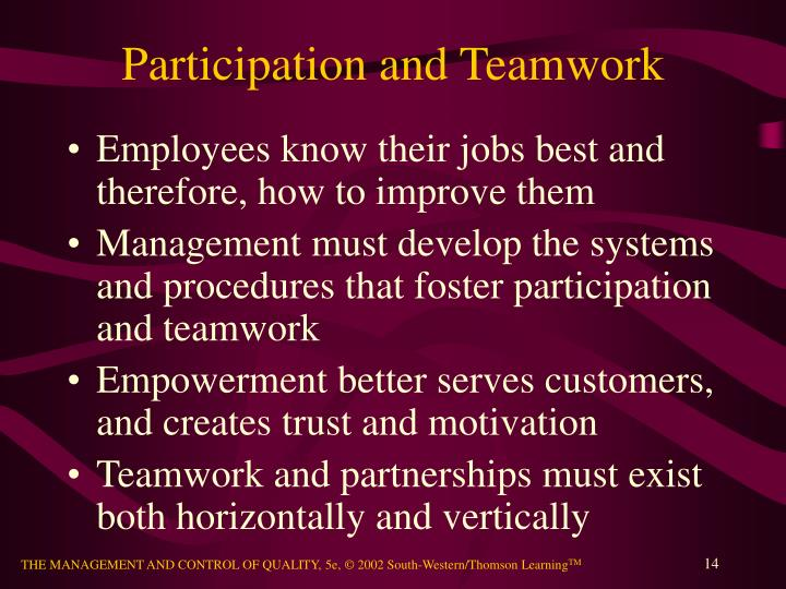 Participation and Teamwork