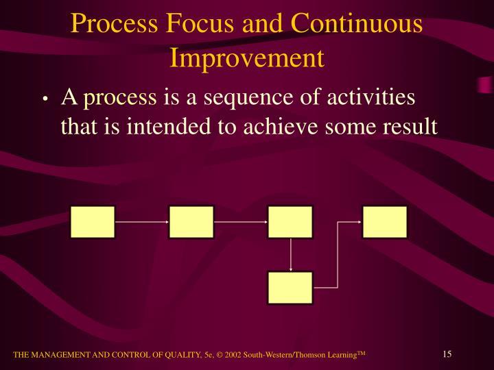 Process Focus and Continuous Improvement