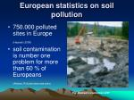 european statistics on soil pollution