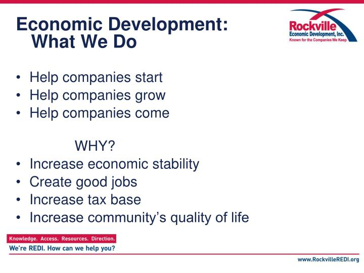 Economic development what we do