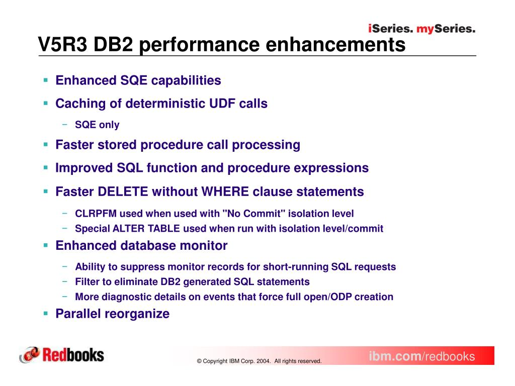 PPT - What's New in DB2 Universal Database for iSeries on V5R3