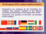 the european xfel limited liability company