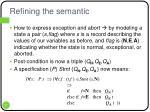 refining the semantic1