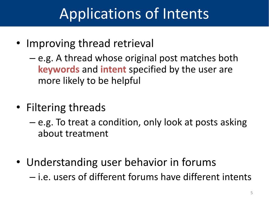 PPT - Understanding User Intents in Online Health Forums