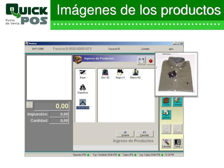 Imágenes de los productos