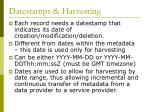 datestamps harvesting