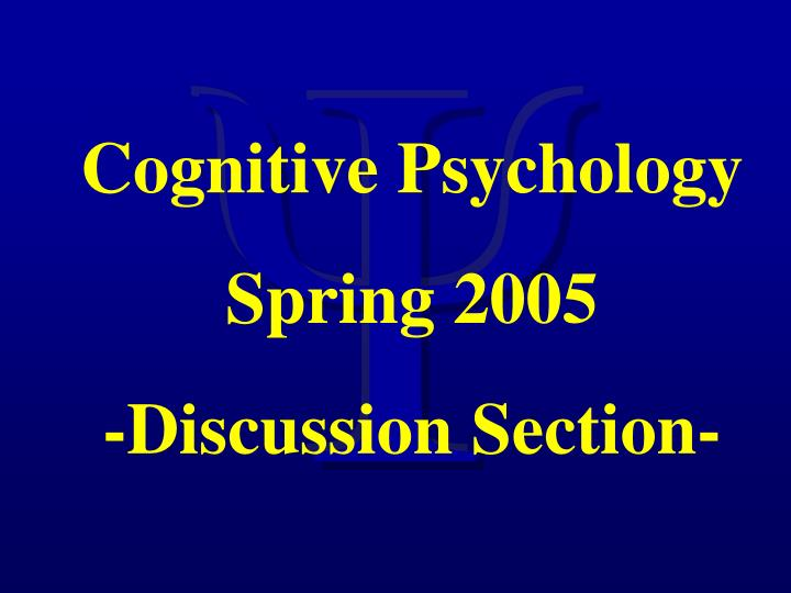 discuss the importance of visual perception in cognitive processes Basic cognitive processes sensation and perception cognitive processes in psychology are analyzed in order to help us improve our quality of life when there is a problem in cognitive processes in reading and/or writing it might be symptoms of dyslexia.