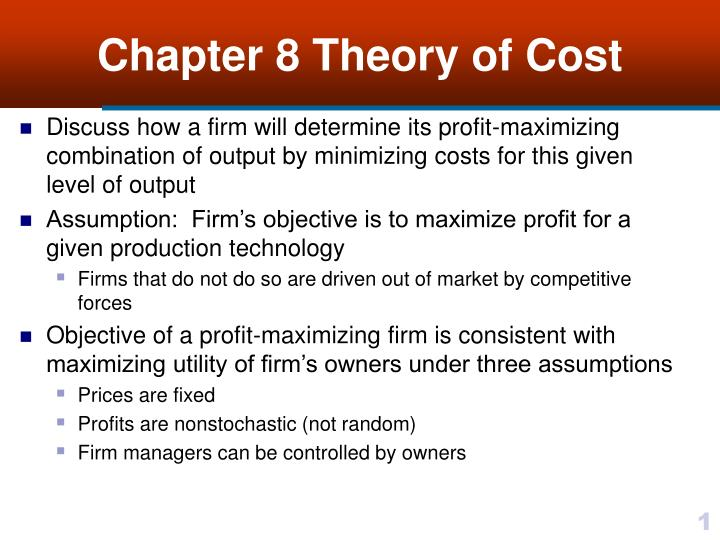 sales maximization as an objective of a firm In terms of sales maximisation: many firms make decisions designed to increase or maximise production and the amount of output sold williamson's (1963) managerial theory of the firm is similar to baumol's maximising sales revenue as a major firm objective.