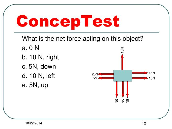 What is the net force acting on this object?