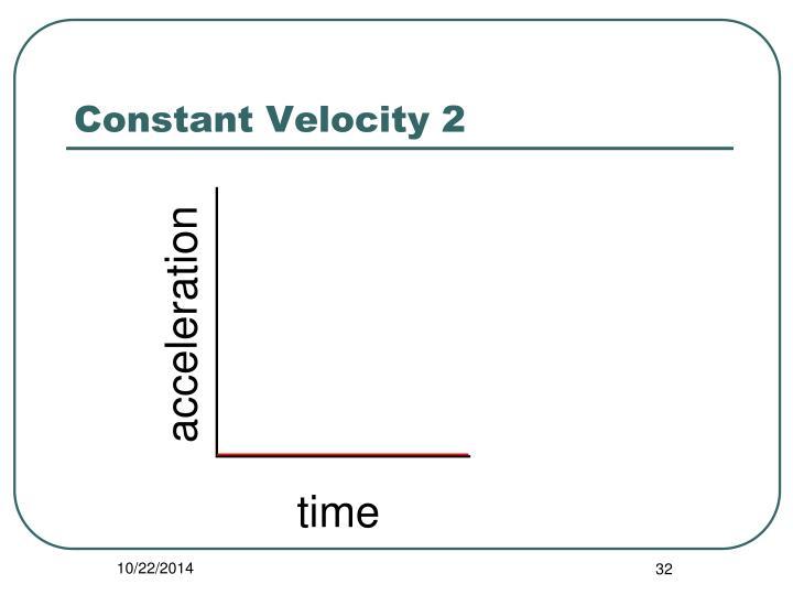 Constant Velocity 2